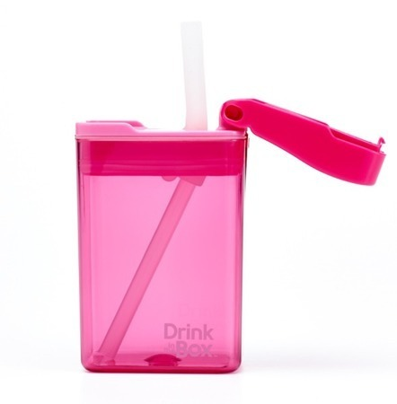 Drink In The Box - Bidon ze słomką 235 ml - Pink
